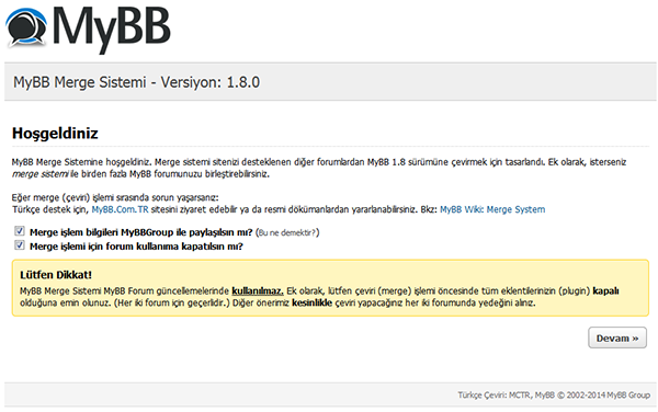 mybb merge
